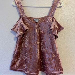 Favlux velvet mauve blouse